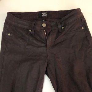 Paige aubergine coated jeans